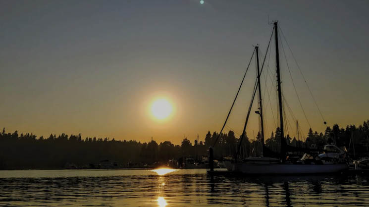 Sunset off of Old Bainbridge Island